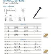 Black Phosphated fine thread Drywall Screw