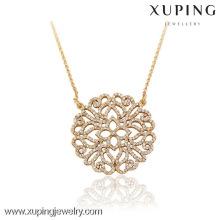 42820 Xuping gros élégant collier de bijoux en or pour femme