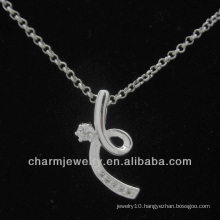 Hot Sale Silver Cubic Zirconia Fashion Pendant 2014 PSS-018