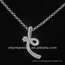 Hot venda de prata cúbicos zircônia moda pingente 2014 PSS-018