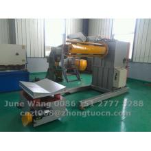 Desbobinador hidráulico con el coche de carga usado para la máquina