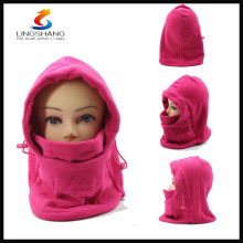LINGSHANG fleece multifunction headwear full face mask ski neck warmer hat