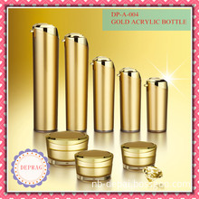 Acrylic Jar with Golden Color, Decorative Skin Care Packaging, Acrylic Skin Care Packaging, Luxury Cosmetic Jars, Empty Plastic Jar, Luxury Cosmetic Containers
