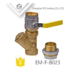 EM-F-B023 Messing 3-Wege Filterrohrverschraubung