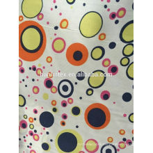 China wholesaler stock lot dyed printed peach skin fabric for woman cloth