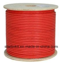 High-End CAT6A UTP LAN Kabel 10 Gigabit Rot