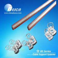 Barra roscada electro galvanizada / varilla roscada chapada en zinc