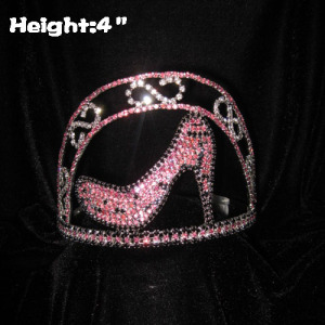 4in Mini Beauty High Heel Crystal Pageant Crowns