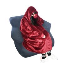 double layer luxury throw hoodie blanket