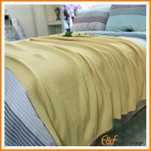 Bright Light Color Airline Bree Knit Blanket for Sale