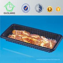 Wegwerfplastikfleisch-Behälter mit saugfähiger Auflage
