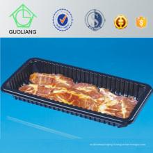 Plateau à viande en plastique jetable avec coussin absorbant
