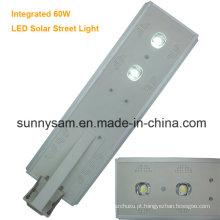 Luz de rua solar integrada 60W do jardim do diodo emissor de luz para a estrada de Oudoor