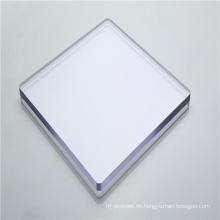 Klare Kunststoffplatte aus massivem Polycarbonat