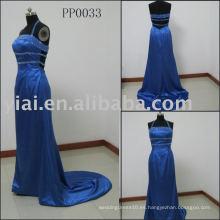 PP0033 2010 vestido de noche sin tirantes azul