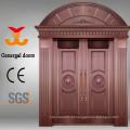 Porta principal da porta de cobre real