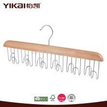 Cintre de ceinture en bois avec 12 supports