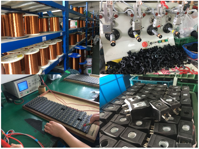 Factory producing display of 16mm Ckd Type AB510 Solenoid Coil