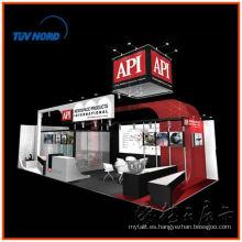Shanghai expo cabina contratista de alquiler o exposición del cabello tienda de campaña y exposición de stand de contrato