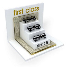 First Class White Acrylic Eyeglass Display, Acrylic Glass Display Holder