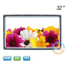 A luz solar do quadro aberto legível 32 polegadas TFT LCD monitor HDMI com alto brilho 1200 nit