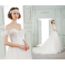 2016 кружева свадебное платье реальные фото сладко-сердце свадебное платье