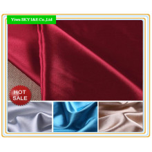 50d*75D Polyester Plain Dyed Satin Fabric for Dress