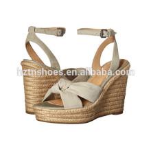 Damen High Heel Pumps Schuhe 2016 Frauen Espadrille Wedge Sandalen