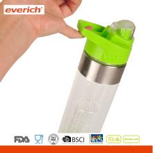 Private Label BPA Free Plastic Infuser Fruit Bottle Avec Poignée Couvercle