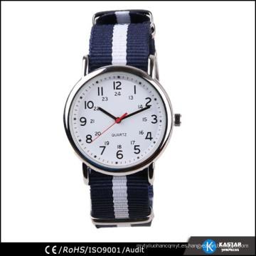 Reloj de nylon de la correa del reloj de los hombres de la mano