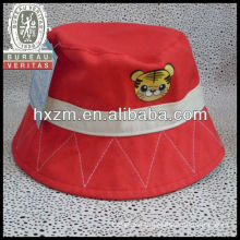 2013 Girl Cotton Bucket Sun Hat Cap With Embroidery Logo