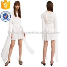 Manga corta de la cinta con cinturón Mini vestido Fabricación al por mayor de las mujeres de la manera Ropa (TA4081D)