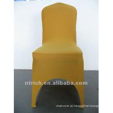 Tampa da cadeira de ouro lycra, CTS863, apto para todas as cadeiras casamento, banquete, capa de cadeira hotel, sash e mesa pano