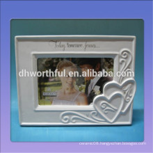 Customized ceramic photo frame with logo for home decoration