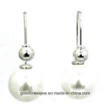 De Buena Calidad y Moda Joyas Perla Pendientes Perla 8mm 6mm Cute Moda Chica Perla Pendientes Mujer E6364