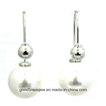 Хорошее качество и ювелирные изделия перлы серьги перлы 8 мм 6 мм милые девушки мода жемчужина женщин E6364