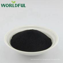 Worldful 50% HA + 8% K2O polvo orgánico negro K-humate con el mejor precio