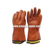 Orange Fully Acrylic Lined PVC/Rubber Winter Glove (5126)