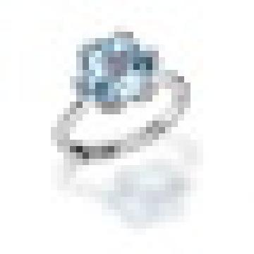 3.40 карат 6 зубец Установка природный розовый кварц голубой топаз кольца стерлингового серебра 925 для женщин Свадебные ювелирные изделия