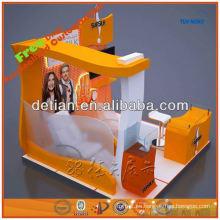 Personalizado elegante modular stand de exhibición de la cabina de sistema de stand de estructura y construcción