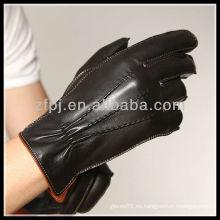 2013 CCTV hombre vestir guantes de cuero de la palma