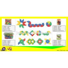 JQ1019 non-toxic escola e casa plástico brinquedo brinquedo blocos de construção