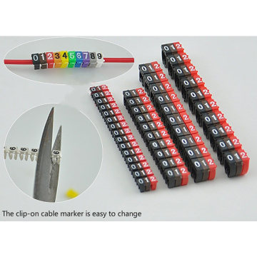 POM Hot-Selling Clip Cable Markers for Electrical