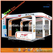 Estande de cabine 6X6 para feira de comércio embalado em pequena caixa