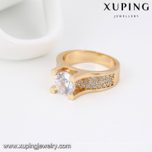 14020-Xuping Jewelry Fashion 18K Gold Plated Woman Ring with Zircon