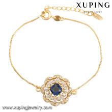 74436-Fashion Pretty CZ Rhinestone pulsera de imitación de la joyería para la boda chapada con 18k chapado en oro