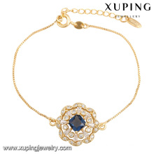 74436-Fashion Pretty CZ Rhinestone Imitation Jewelry Bracelet for Wedding Plated with 18k Gold-Plated