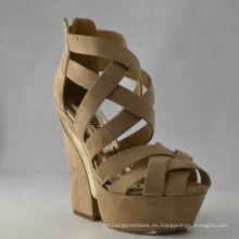 Nuevas sandalias chunky de las señoras del diseño (HCY03-049)