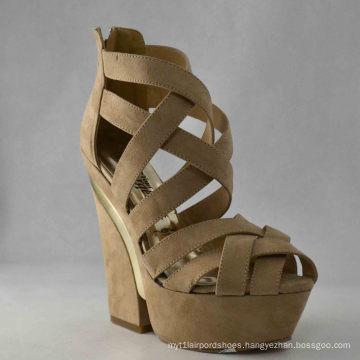 New Design Ladies Chunky Sandals (HCY03-049)