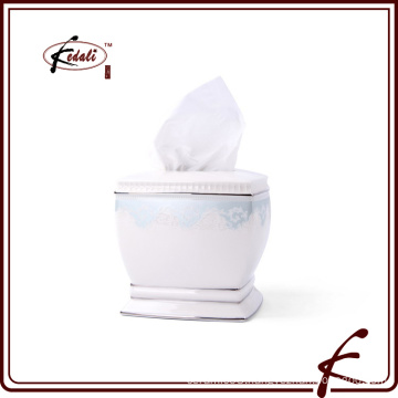 decorative square ceramic tissue paper box